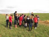 Les enfants retroussent leurs manches : 100 mètres de haie bocagère plantés !