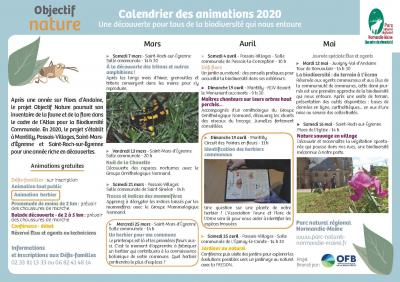 Animations Objectif nature 2020